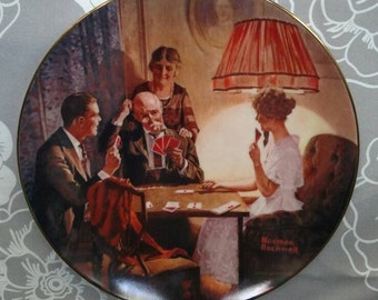 Vintage Norman Rockwell Plate 1983 . The Room That Light Built . Fine China Knowles Decorative Collectible