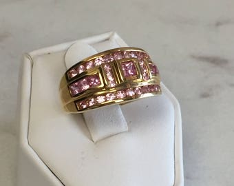 14kt Yellow Gold Pink Tourmaline Ring at a Very Fashionable Price