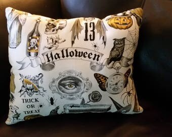 "Halloween Throw Pillow 9"" x 12"""