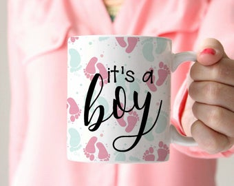 gender reveal idea baby shower gift its a boy its a girl gender reveal gift gender reveal mug