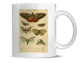 Antique Moths Mug