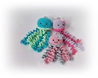 Crochet octopus family Mom Dad and me octopus crochet decoration family gift amigurumi wedding decoration Crochet Octopus jellyfish plushy