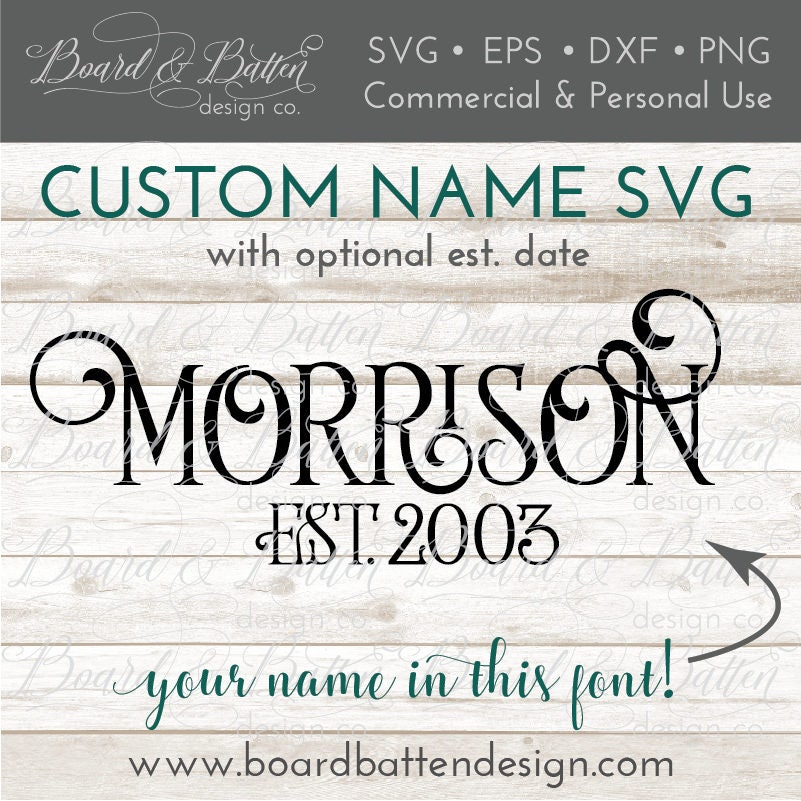 Last name svg custom svg design word svg anniversary cut for Last name pictures architecture
