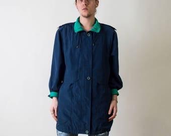 Vintage Color Block Windbreaker Jacket