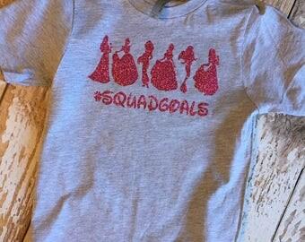 Princess Squad Goals Youth Shirt, Princesses, Disney