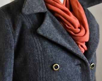 Vintage Heather Grey M.G. Kinsler Wool Coat