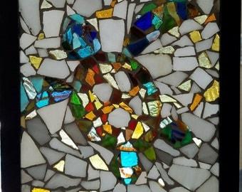 Framed Mosaic Turtle