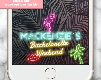 Las Vegas Neon Sign Snapchat * Neon Birthday Geofilter Neon Sign Bachelorette Snapchat Filter Bachelorette Weekend Custom Snapchat Filter