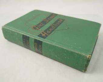 Girl Scout Handbook 1952 Hardcover Antique