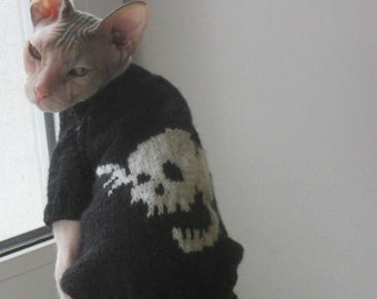 """Sweater emblazoned """"skull"""" for the Sphinx"""