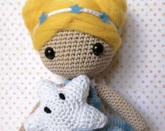 Dreamy, fairy of dreams crochet doll crochet doll