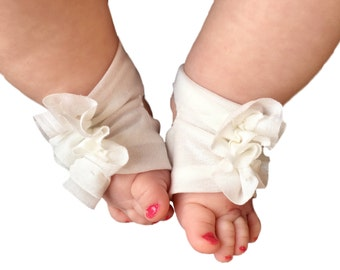 Ivory Baby Shoes - Ivory Sandals - Ivory Booties -  Newborn Sandals - Infant Booties - Blessing Outfit - Baptism Shoes - Toddler Sandals