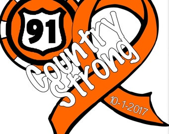 Country Strong Heart Shaped Coin and Ribbon Route 91 Harvest Vinyl Decal