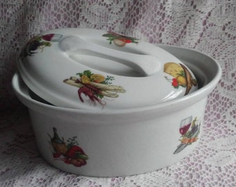 French BIA Cordon Bleu Made in France Small Casserole/Pate Tureen