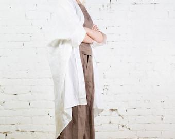 Linen kimono, oversized long linen,cardigan, jacket / LC0002