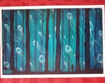 Print. The lucid dream. 33 x 48 cm.