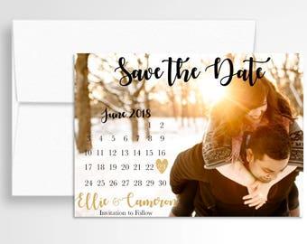 Wedding Save the Date Calendar // Your Photos! // Calendar Save the Date // Wedding Stationery // Custom