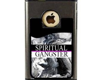 Spiritual Gangster,Cell Phone Card Caddy,Phone Wallet.Wallet Card Holder,Credit Card holder.Phone Money Holder.Gift ideas,phone money holder