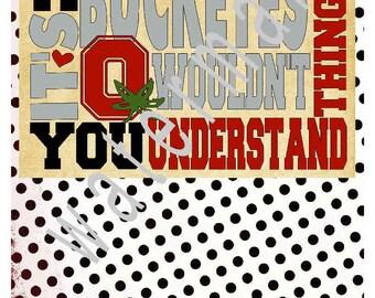 OHIO SVG - Ohio State Subway art shirt Ohio state SVG -silhouette cameo cricut  Buckeyes svg Ohio state Buckeye thing you wouldnt understand