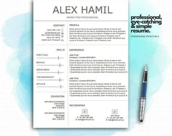How To Write Good Resume Excel Resume Template  Etsy Mis Resume Word with Professional Resume Templates Free Word  Job Objective For Resume