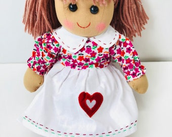 Personalised Rag Doll, Baby Doll,Doll for Girls, Doll for Gift,First Birthday Doll,