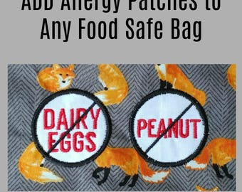 ADD An Allergy Patch to any bag, Peanut Allergy, Milk Allergy, Food Allergy, Kids Allergy Product, Allergy Alert, Allergy Bag, Epi Pen Pouch