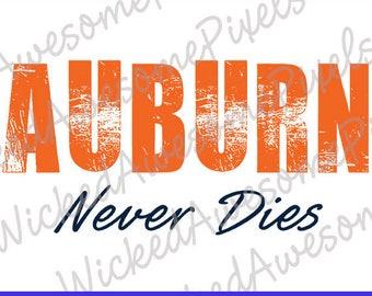 Auburn svg, Distressed svg, Auburn Never Dies svg, Auburn Cut File, Auburn Football svg, Team svg, Auburn Iron On Transfer, png, eps, dxf