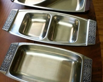 Retro Stainless Steel Serving Trays