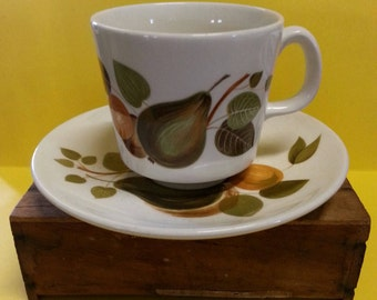 Vintage Johnson of Australia Cup and Saucer / Retro Johnson Pears Cup and Saucer