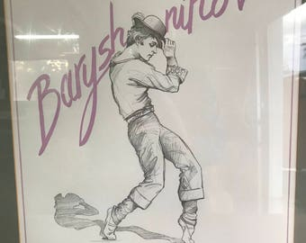 Vintage 1985 Mikhail Baryshnikov Limited Edition Lithograph Show Poster by Daisy du Puthod Pencil Signed & Numbered
