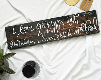 Julia Child Quote Wood Sign | Kitchen Decor | Farmhouse Home Decor | Gift | Rustic Decor