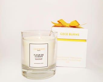Fleur D'Cassis Bougie parfumées en cire de soja 210g