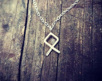 Othila Rune Eco Sterling Silver Necklace - available in 2 sizes