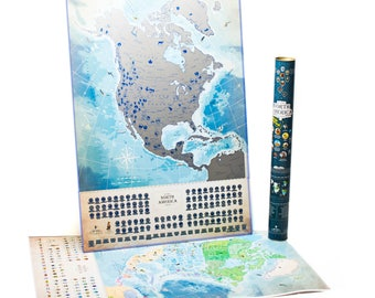 Amazing Scratch MAP Of USA Travel Map Large Premium Gift US - Scratch us map