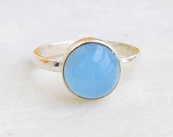 Chalcedony Ring, Chalcedony Stone Ring, Silver Ring,Sterling Silver Ring