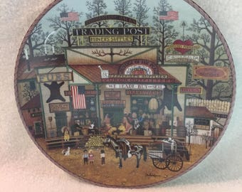 Bradford Exchange Charles Wysocki's American Frontier Collector Plate - 'Timberline Jack's Trading Post' (#197)