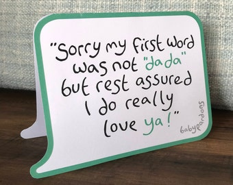 Father's Day card (for new dads - from the baby!)