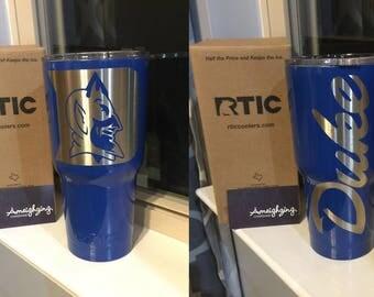 Duke RTIC, Duke Powder coated tumbler,Powder coated cup,  Customized tumbler, Duke, Duke Rtic Cup, Duke YETI, Duke Cup, rtic, yeti, tumbler