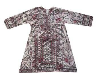 Vintage Baluchi Dress  Boho Kimono Tunic  Afgan Frock Dress Mirror Work Baluchi Gypsy Top Hand Embroidered Tribal Gypsy Banjara Dress