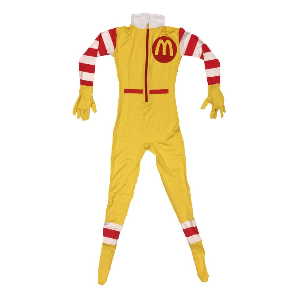 ronald mcdonald costume cosplay spandex mcdonald u0027s fancy