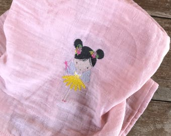 Embroidered cloth diaper