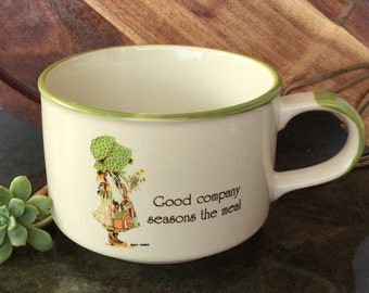 1981 Holly Hobbie large mug Soup mug Hostess gift Vintage mug Collectibles
