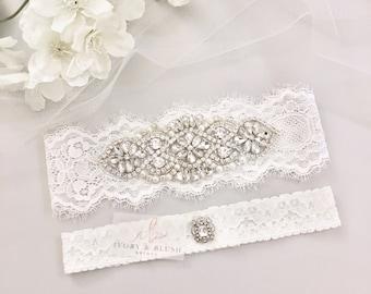 Wedding Garter LIGHT IVORY Set Garters For Bridal Lace