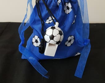 Football Mad Pre-filled Fabric Drawstring Party Bag