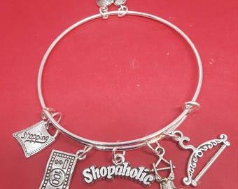 Shopaholic Themed Charm Bracelet