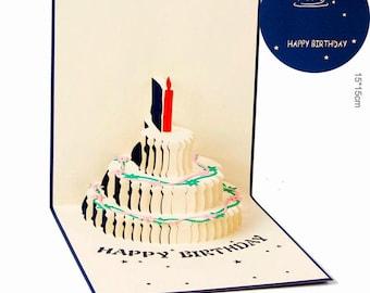 Birthday Cake Pop Up Card - 3D Birthday Card
