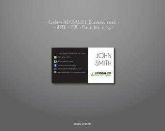 Custom HERBALIFE Business Card