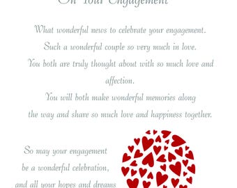Daughter & Fiancee Engagement Card