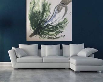Sold - FLY FISHING -  Contemporary Ocean Art