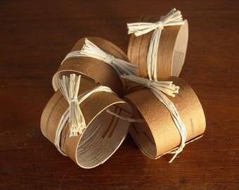 Birch Bark Napkin Rings